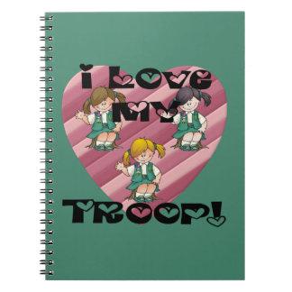Amor del joven I mi corazón de la tropa Cuaderno