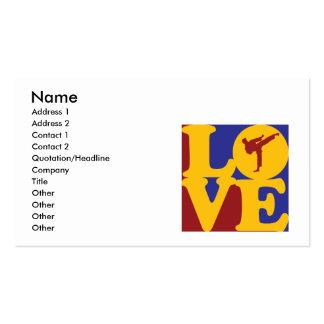 Amor del karate tarjetas de visita
