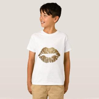 Amor del lápiz labial del beso del brillo camiseta