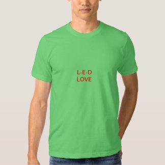 Amor del LED Camiseta