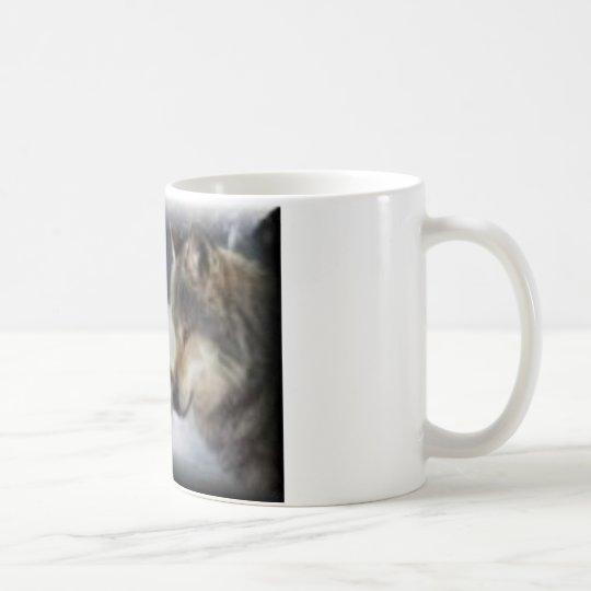 Amor del lobo taza de café