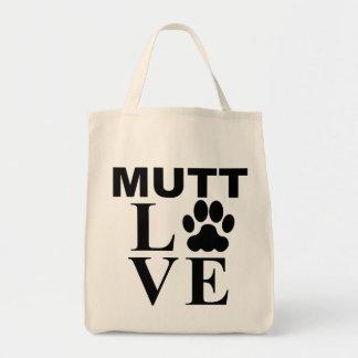 Amor del Mutt Bolsa Tela Para La Compra