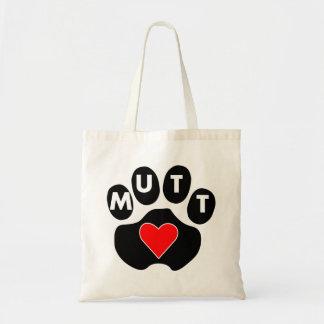 Amor del Mutt Bolsas Lienzo