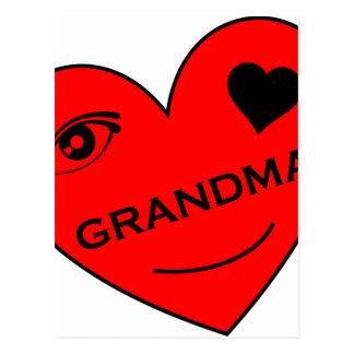 Amor del ojo mi abuela postal