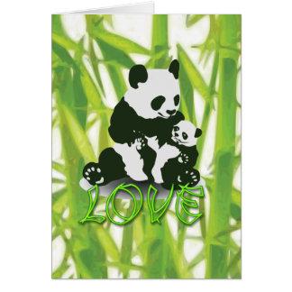 Amor del oso de panda para su bebé tarjeta de felicitación