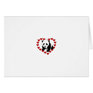 Amor del oso de panda felicitacion