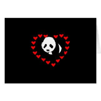 Amor del oso de panda tarjeta pequeña
