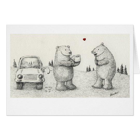Amor del oso tarjeta de felicitación