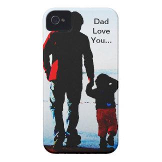 Amor del papá del padre usted iPhone 4 Case-Mate cobertura