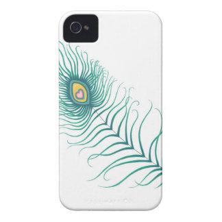 Amor del pavo real iPhone 4 cárcasas