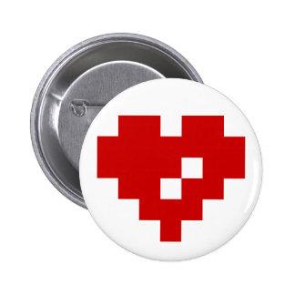 Amor del pedazo del corazón 8 del pixel chapa redonda 5 cm