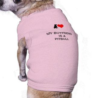 Amor del pequeño perro (ROSA) Camisetas De Mascota