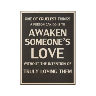 Amor del poster de la relación sin la intención