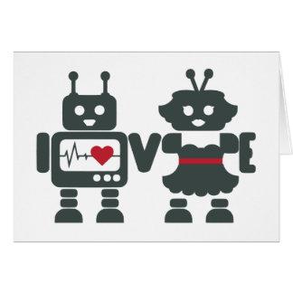 Amor del robot - mensaje del personalizar tarjeta de felicitación