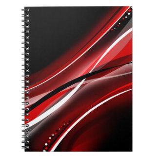 Amor del rojo cuaderno