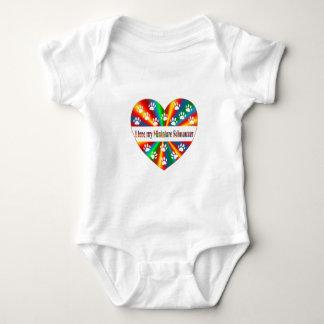 Amor del Schnauzer miniatura Body Para Bebé
