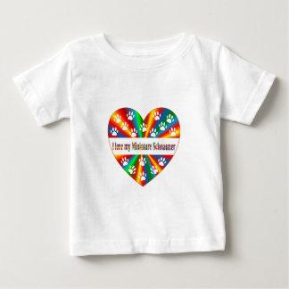 Amor del Schnauzer miniatura Camiseta De Bebé