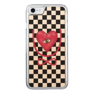Amor del tablero de damas usted observa para funda para iPhone 7