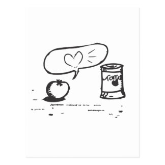 amor del tomate postal