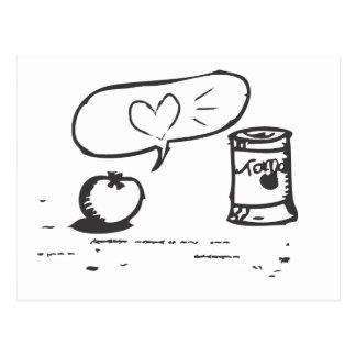 amor del tomate tarjeta postal