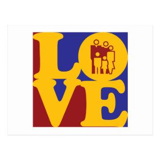 Amor del trabajo social tarjetas postales