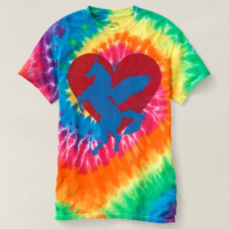 Amor del unicornio y serenidad del teñido anudado camisetas