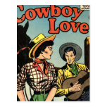 Amor del vaquero postal