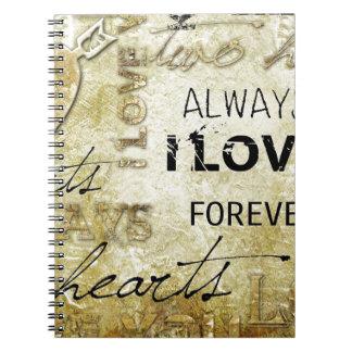 Amor del vintage cuaderno