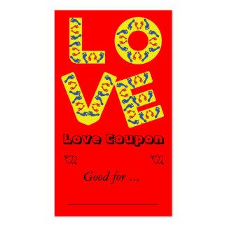 Amor descalzo tarjetas de visita