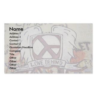 Amor detrás tarjeta de visita