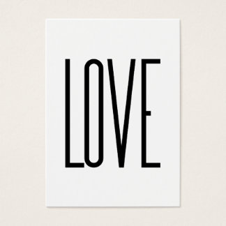 Amor - diseño minimalista tarjeta de negocios