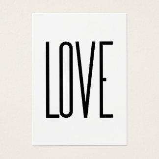 Amor - diseño minimalista tarjeta de visita