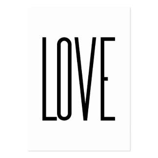 Amor - diseño minimalista tarjetas de visita grandes