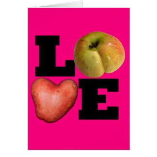 AMOR - el día de San Valentín rosado 1 de saludo Tarjeta De Felicitación