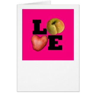 AMOR - el día de San Valentín rosado 2 de saludo Tarjeta De Felicitación