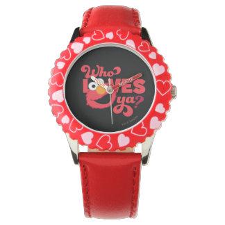 Amor Elmo Reloj
