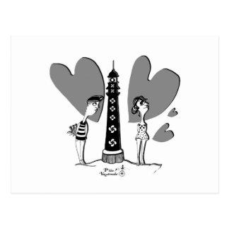 Amor en Biarritz Postal