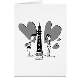 Amor en Biarritz Tarjeta De Felicitación
