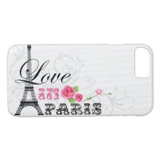 Amor en caso del iPhone de París Funda Para iPhone 8/7
