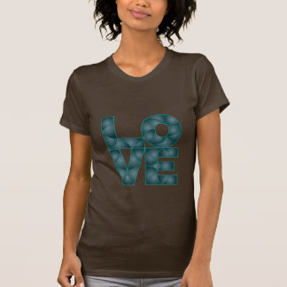 Amor en colores de la turquesa - la camiseta de