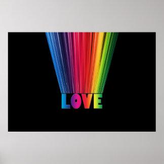 Amor en colores del arco iris impresiones