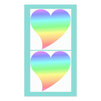 Amor en colores pastel del arco iris del corazón r plantillas de tarjetas personales