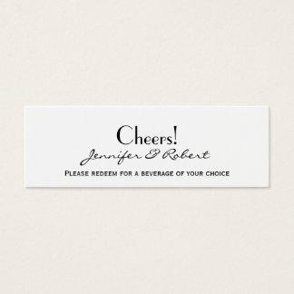 Amor en cuaesquiera boletos de la bebida de la tarjeta de visita mini