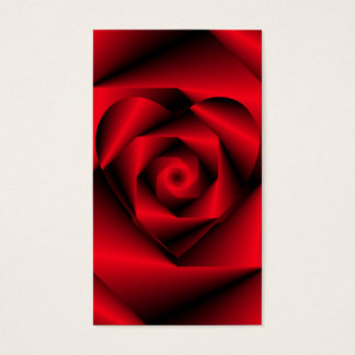 Amor en disfraz - el corazón de un color de rosa tarjeta de negocios