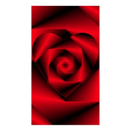 Amor en disfraz - el corazón de un color de rosa tarjetas de visita