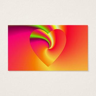 Amor en disfraz - en el extremo del arco iris tarjeta de negocios