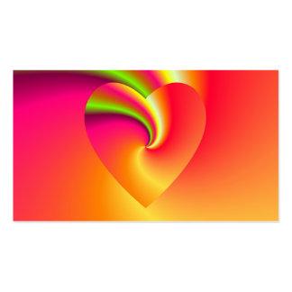 Amor en disfraz - en el extremo del arco iris tarjeta de visita