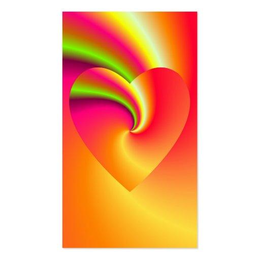 Amor en disfraz - en el extremo del arco iris plantilla de tarjeta de negocio