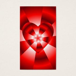 Amor en el disfraz - resplandor roja tarjeta de negocios