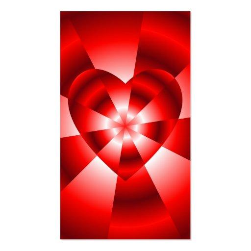 Amor en el disfraz - resplandor roja tarjetas de negocios